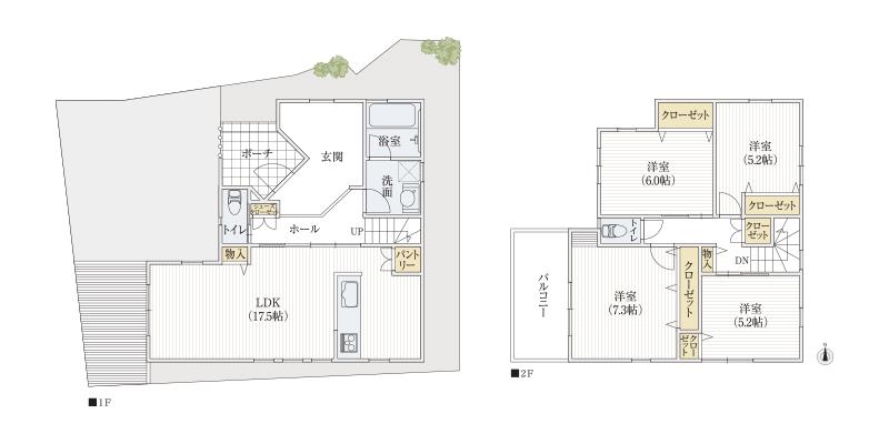 31坪4LDK|自宅でサロンなら、広い土間玄関+リビングが正解