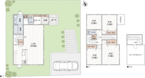 ユニバーサル設計のシンプルLDKで家事と子育てできる新築間取り例