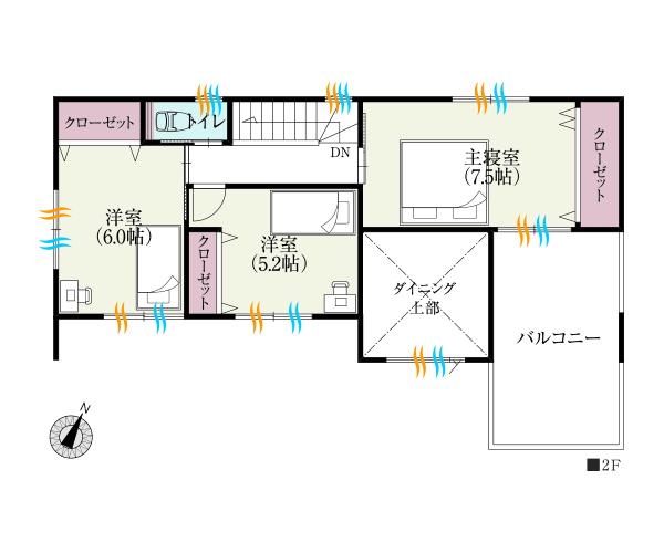 階プライベートフロアも全室南向き。大バルコニーでアウトドアリビング
